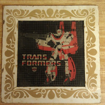 Vintage Glass Transformers Plate  - Toys