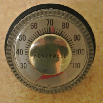 1960's Thermometer Paperweight by Honeywell