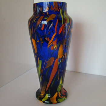 Bohemian (?) spatter vase