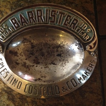 Antique coin tray - Advertising