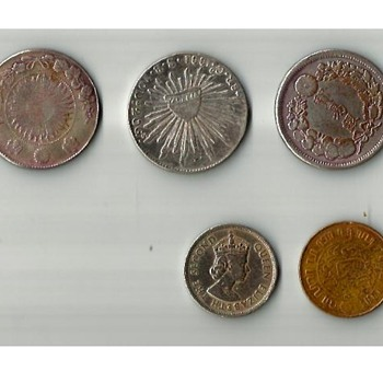5 coins
