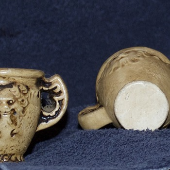 $ Lion Carved Bone Cups - China and Dinnerware