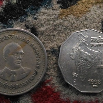 1 and 2 rupee Indian coins - Coin Operated