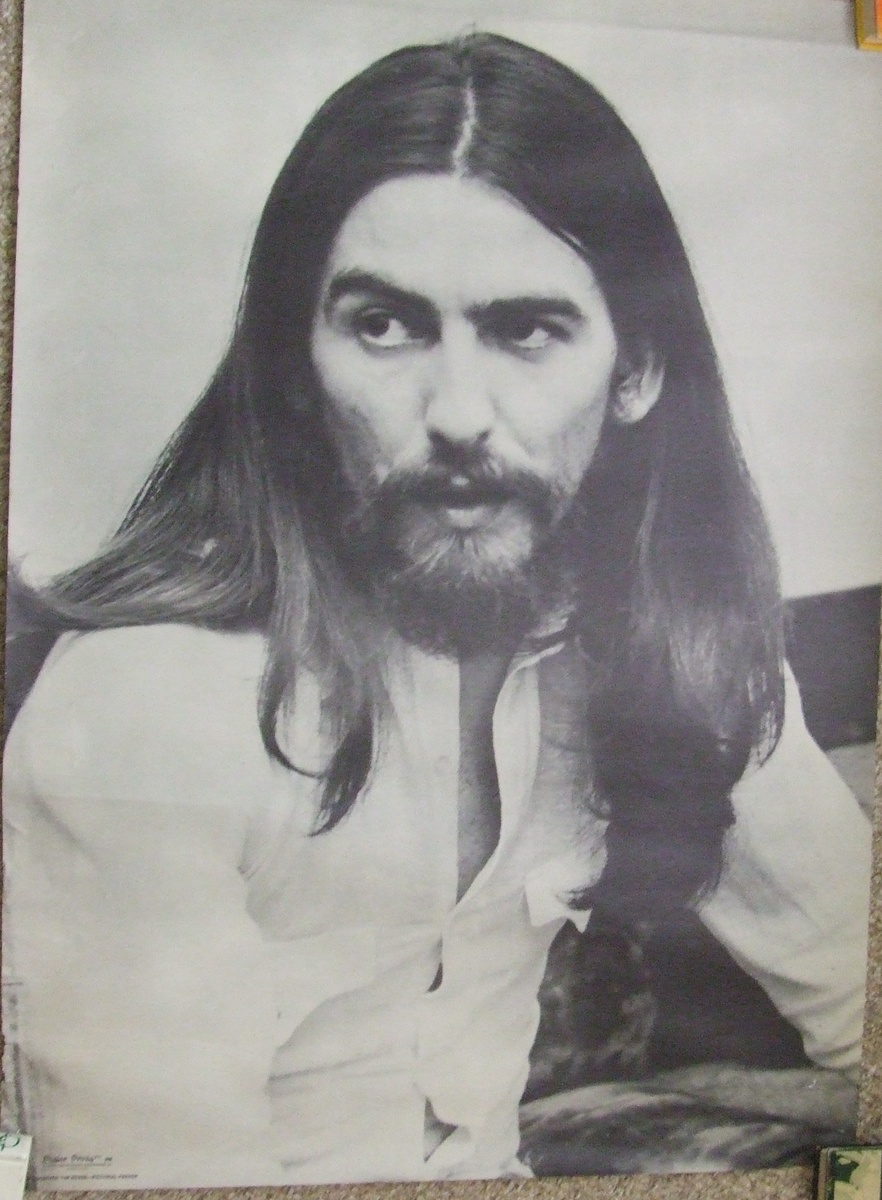 Vintage 1960s Early 1970s Beatles George Harrison Poster