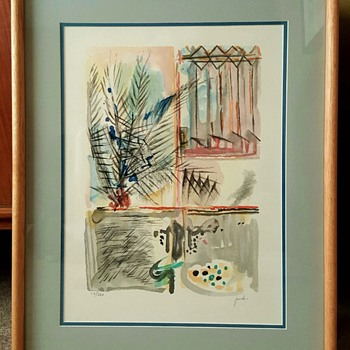 """Palm Tree"" Lithograph Print by Yehezkel Streichman"