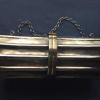 Vintage silver, brass purse..No maker known - Bags