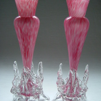 Bohemian Welz Vases - Art Glass
