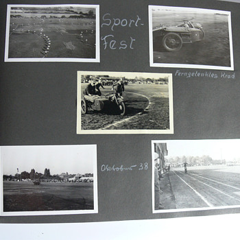 pictures from 1938 with a remotely piloted BMW motorcycle - Photographs