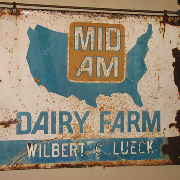 Cool Mid Am Dairy Farm Agricultural Sign - Signs
