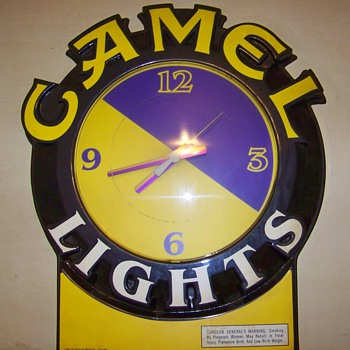 1980's Joe Camel Clock - Tobacciana