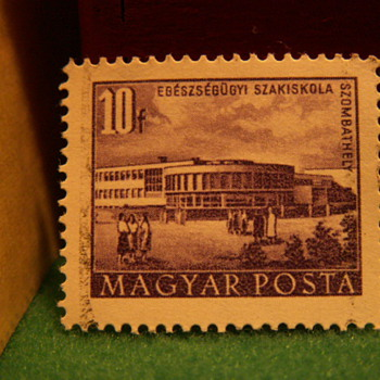 Vintage Hungarian 10 Filler Stamp - Stamps