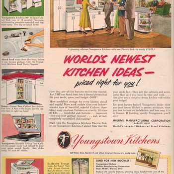 1950 Youngstown Kitchens Advertisement - Advertising