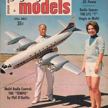 1965-1968 Flying Models magazines - Paper