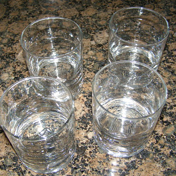 Crystal Double Old Fashion Glasses