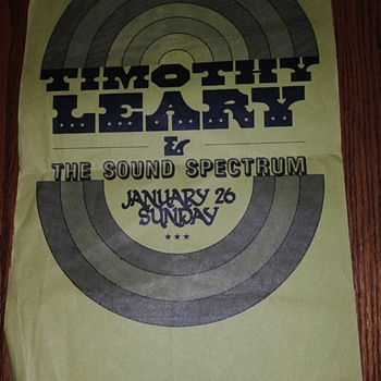 Timothy Leary Concert Flyer - Music