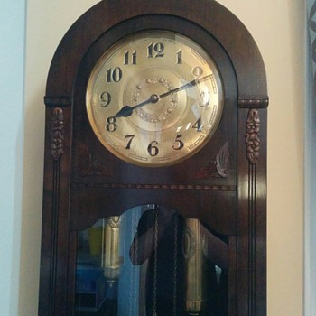 Round Top German Grandfather Clock