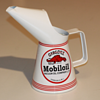 1959 MOBIL OIL JUG GARGOYLE OIL CAN QUART