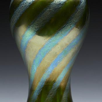 Rare Loetz Silberiris Stripes Vase. - Art Glass