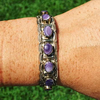 Vintage Native American Sterling Silver Bracelet Cuff