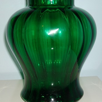 Green ribbed vase, Belgium?