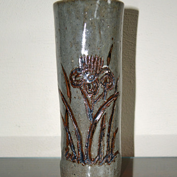 Cylinder Shaped Vase - Art Pottery
