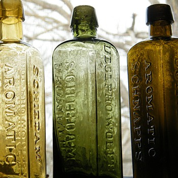 Udolpho Wolfe's Aromatic Schnapp's - Bottles