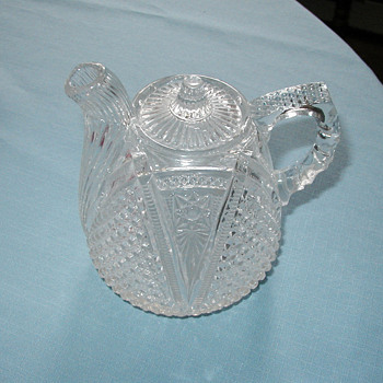 Pressed Glass Pitcher - Art Glass