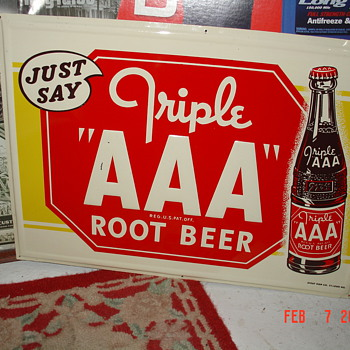 Triple AAA Root Beer Tin Sign - Signs