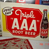 Triple AAA Root Beer Tin Sign