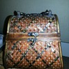 Vintage Cedar Wood Handbag / Purse Tortise Shell or Copper Weave?