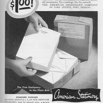 1951 - American Stationary Advertisement - Advertising