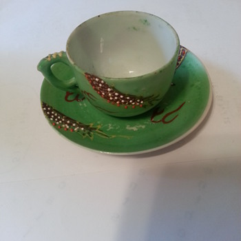 Tea Cup and Saucer  - Asian