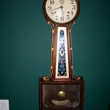 Large New Haven Banjo Clock