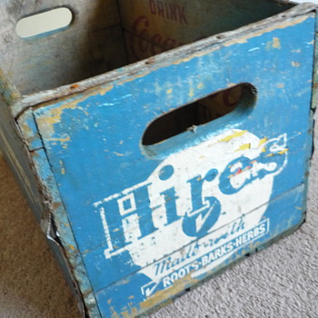 Hires Root Beer label painted over Coca Cola Crate?! - Coca-Cola