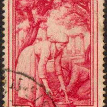 "1950 - Italy ""Workers"" Postage Stamps - Stamps"