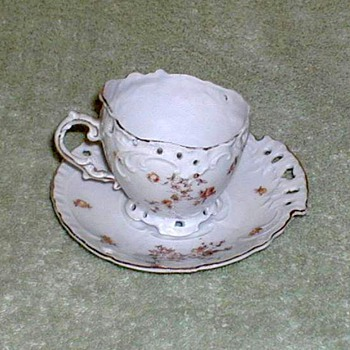 Victoria Porcelain Demitasse Cup & Saucer Set - China and Dinnerware