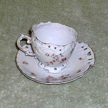 Victoria Porcelain Demitasse Cup & Saucer Set