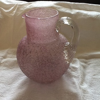 Overshot Glass Pitcher - Art Glass