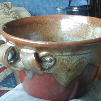 studio stoneware pot - Art Pottery
