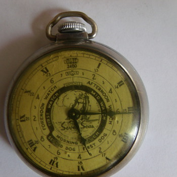 "1938 Ingraham ""Seven Seas"" Pocketwatch - Pocket Watches"