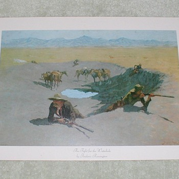 """The Fight for the Waterhole"" by Frederic Remington - Posters and Prints"