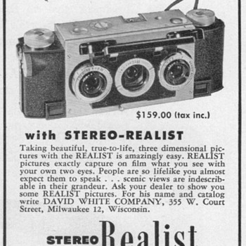 1952 - Realist Stereo Camera Advertisements