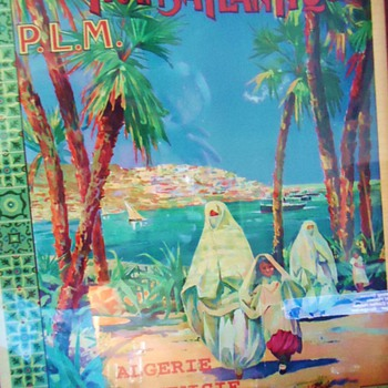 Algeria Tunisia, 1890-1910? Travel French Poster,  Need Help!