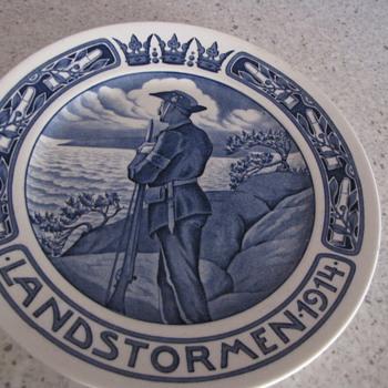 Landstormen Plate - Art Pottery
