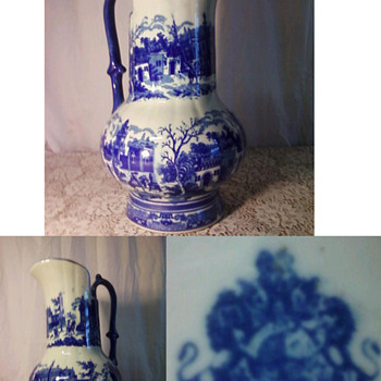 Cobalt/Glazed Pitcher - Art Pottery