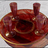 CARNEOL LIQUEUR TRAY & GLASSES