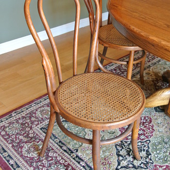 My Heywood-Wakefield Bentwood Cain Seat Chairs. How old are they? - Furniture