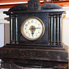 Uhrenfabrik Badische Black Mantle Clock Model 6014, 1880-90