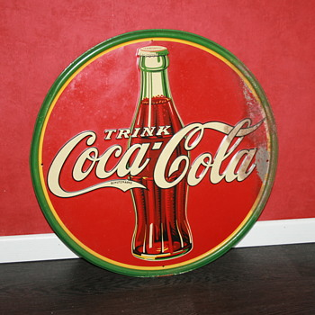 coca cola tin sign