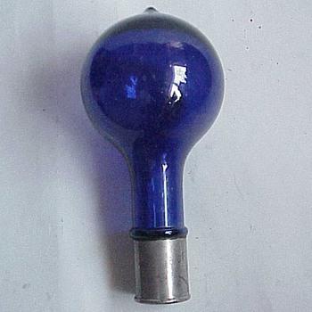 Cobalt glass lightbulb shaped ?